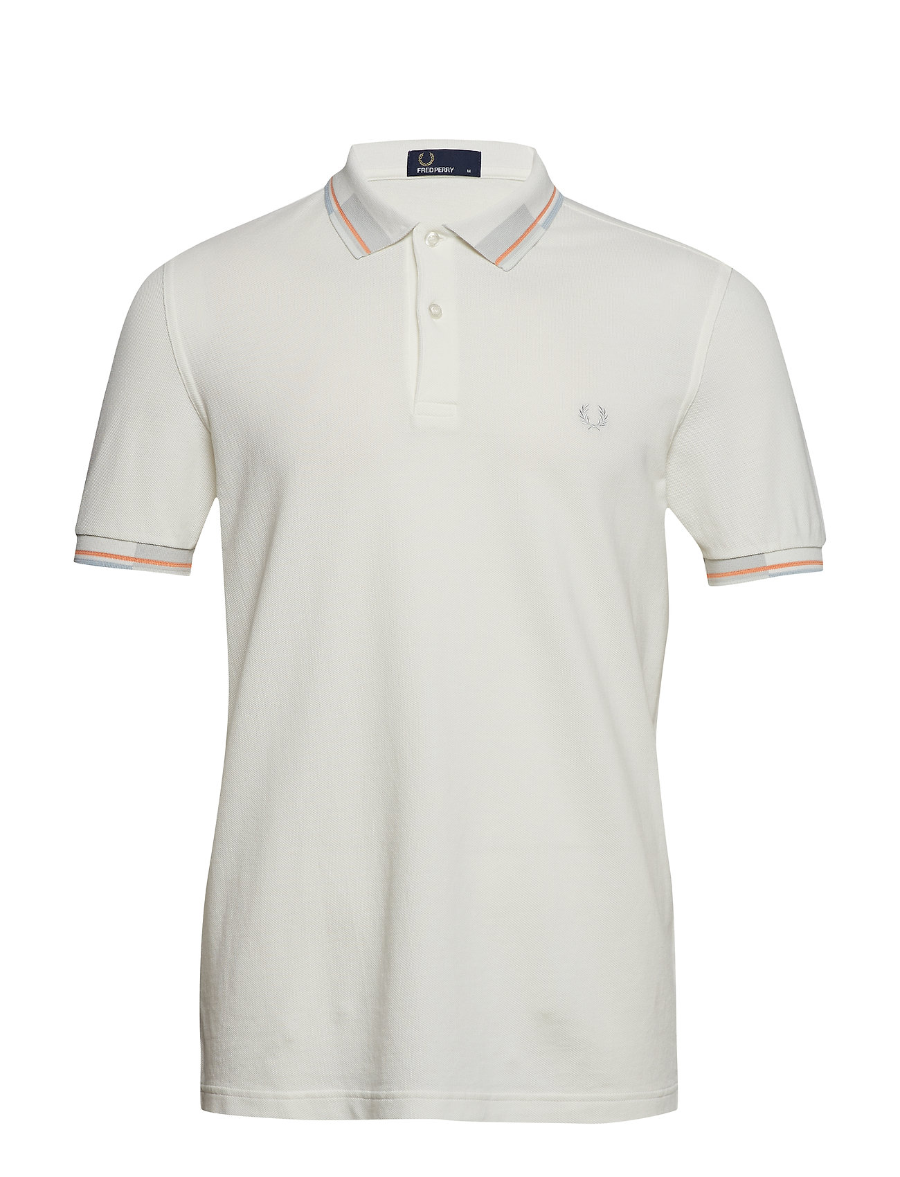 Fred Perry Abstract Pique Shirt - SNOW WHITE