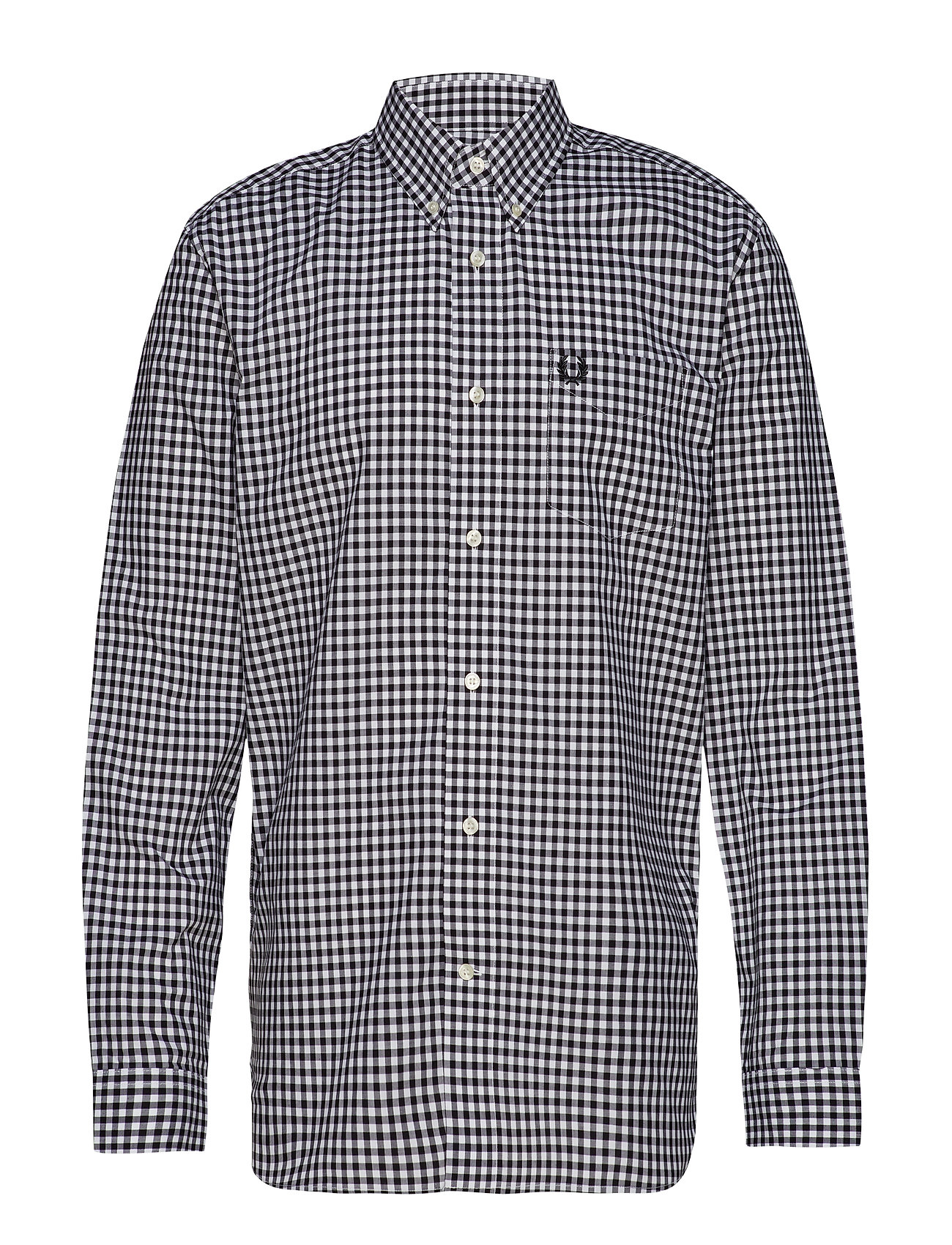 Fred Perry 2/Col Gingham Shirt - WHITE