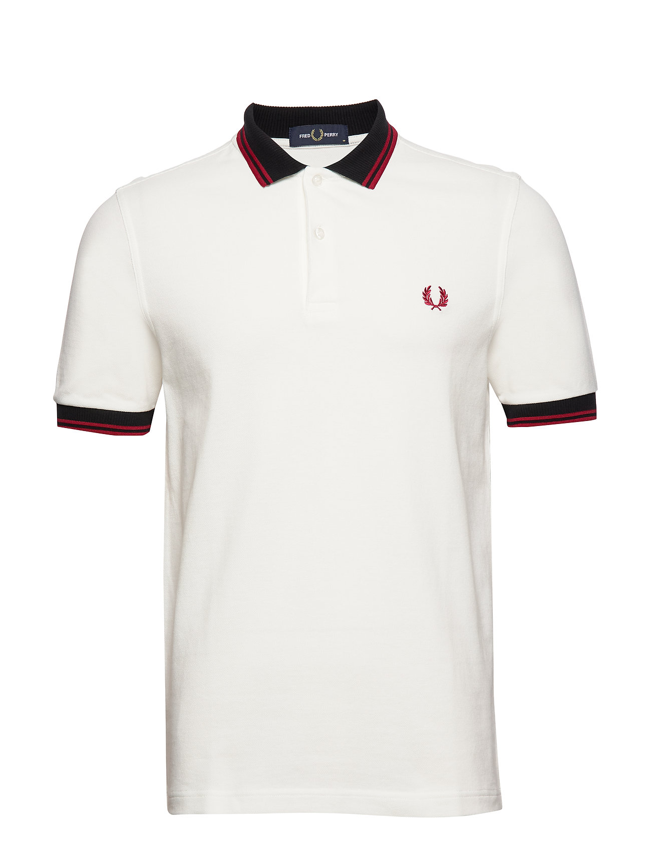 Fred Perry CONTRAST POLO SHIRT - SNOW WHITE