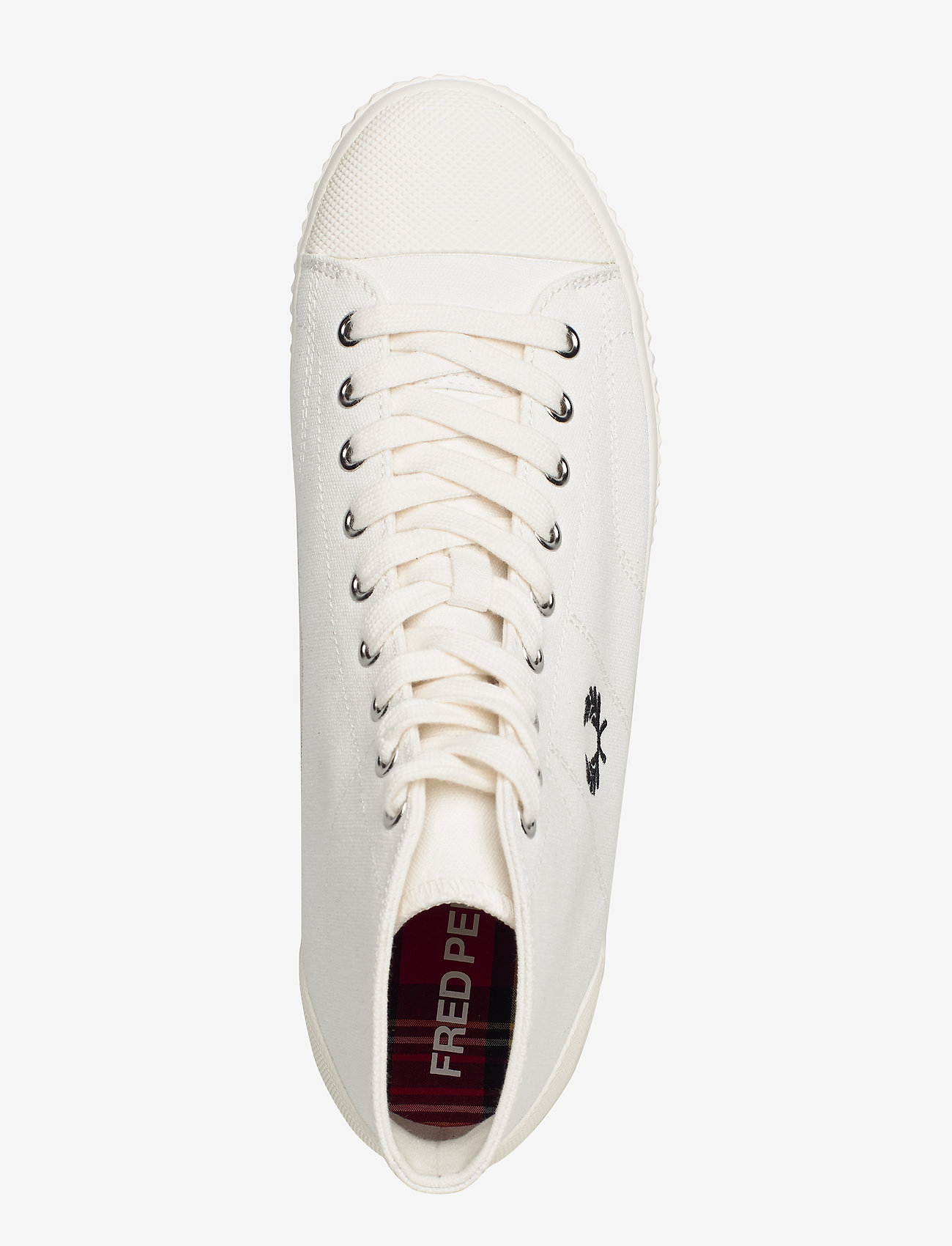 Hughes Mid Canvas (Light Ecru) - Fred Perry