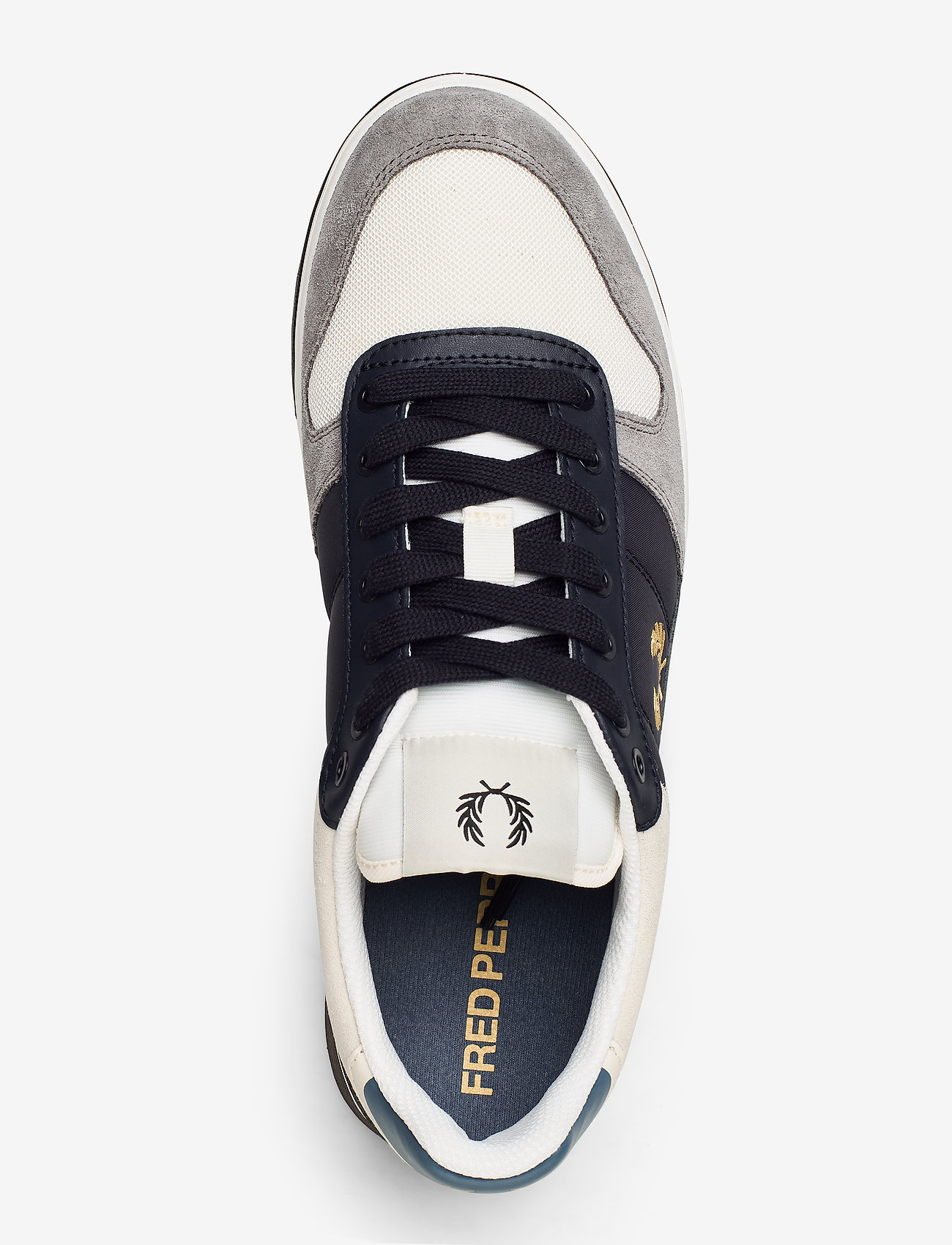 B300 Lthr/suede/poly (Porcelain) - Fred Perry