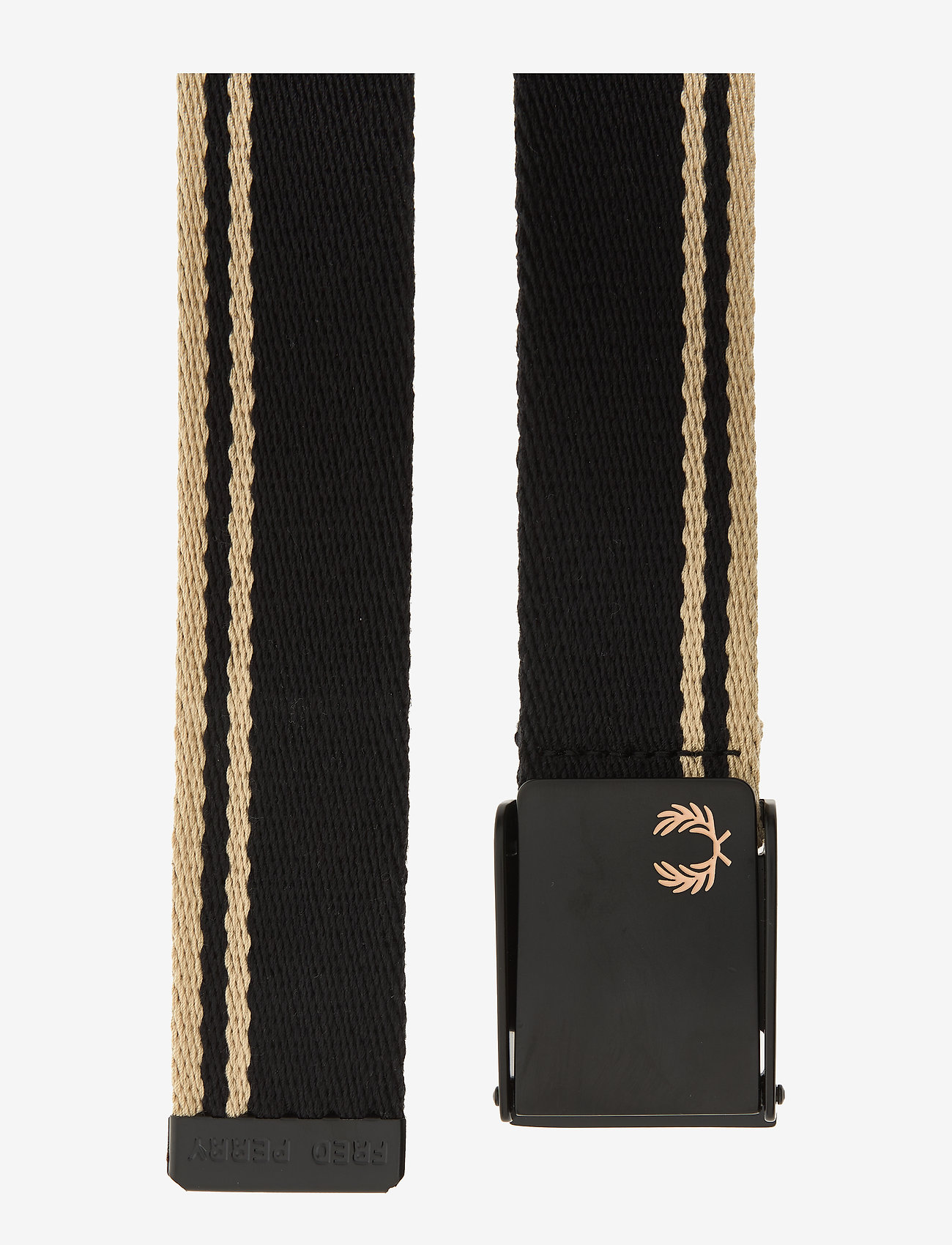 Fred Perry Tipped Webbing Belt - Bälten Black/champ.