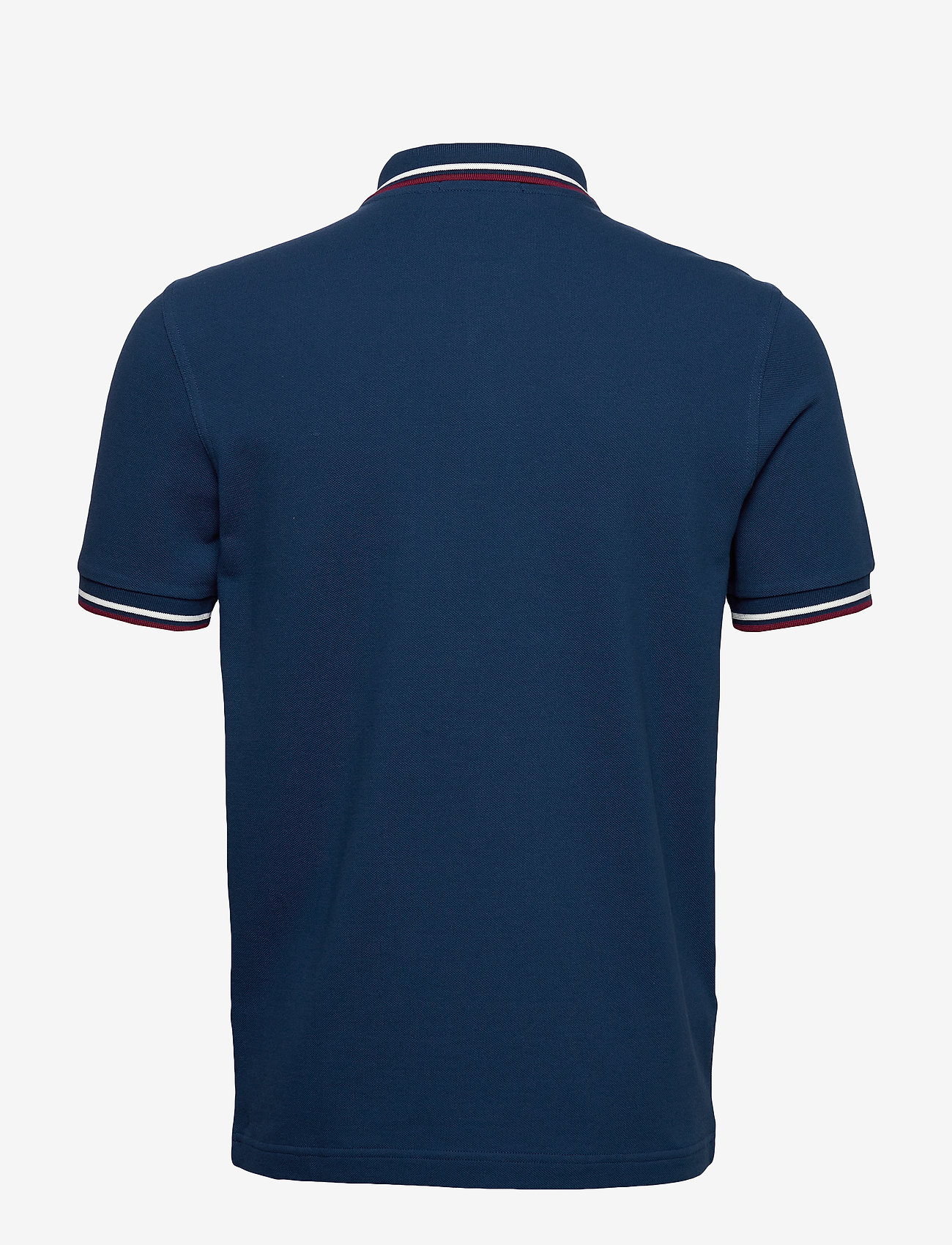 Fred Perry - TWIN TIPPED FP SHIRT - lyhythihaiset - deep marine/snwwht/tawny port