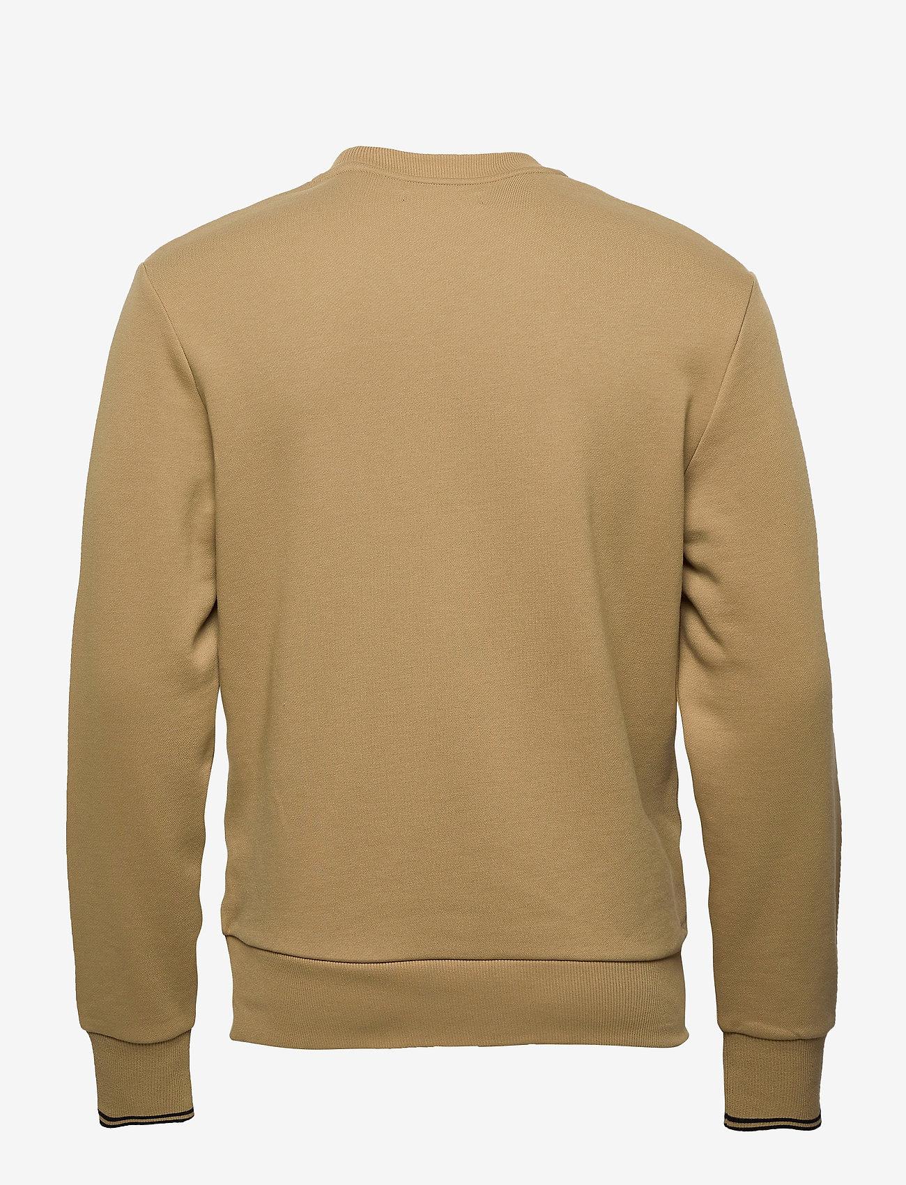 Fred Perry CREW NECK SWEATSHIRT - Sweatshirts WARM STONE - Menn Klær