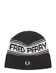 FRED PERRY BEANIE - BLACK/SNOWW.