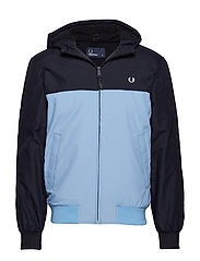 HOODED QUILTED JKT - NAVY