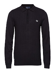 TEXTURED KNITTED SHIRT - BLACK MARL