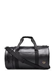 Tonal Pu Barrel Bag - BLACK