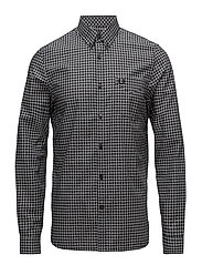 Gingham Shirt - BLACK