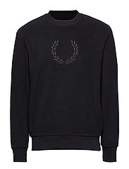 EMBROIDERED FLEECE - BLACK