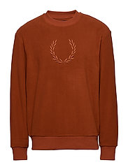 EMBROIDERED FLEECE - PAPRIKA