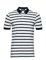 STRIPE PIQUE SHIRT - SNOW WHITE