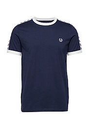 TAPED RINGER T-SHIRT - CARBON BLUE