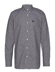 2/Col Gingham Shirt - WHITE