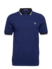 CONTRAST POLO SHIRT - MEDIEVAL BLUE