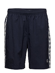 TAPED SWIMSHORTS - CARBON BLUE