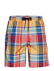 MADRAS SWIMSHORT - RED