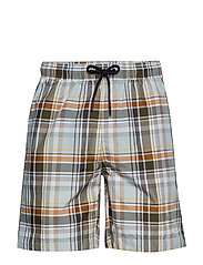 MADRAS SWIMSHORT - WHITE