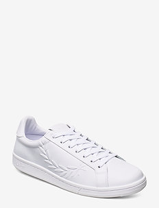 B721 EMBOSSED LAUREL LTH - WHITE