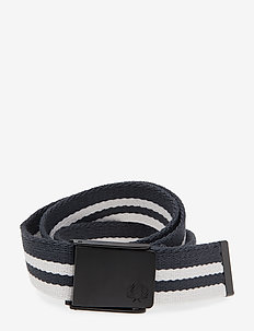 Webbing Belt - NAVY/SNOW