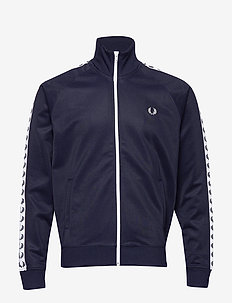 Taped Track Jacket - track jackets - carbon blue