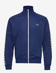 Taped Track Jacket - track jackets - nautical blue