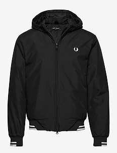 PADDED HOODED SPORTS JKT - BLACK