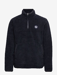 HALF ZIP FLEECE JACKET - anorakker - navy