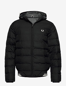 HOODED INSULATED JKT - forede jakker - black