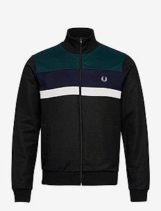 COL.BLOCK TRACK JKT - basic sweatshirts - black