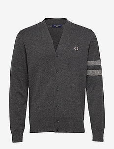 TIPPED CARDIGAN - GRAPHITE MARL