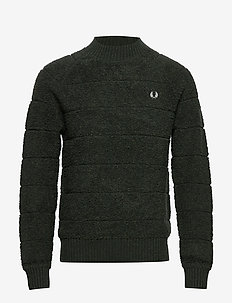Textured C/N Jumper - HUNTING GREEN
