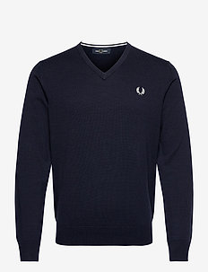 CLASSIC V/N JUMPER - basic strik - navy