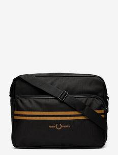 TWIN TIPPED SHOULDER BAG - tietokonelaukut - black