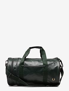 Tonal Pu Barrel Bag - weekendväskor - dark green