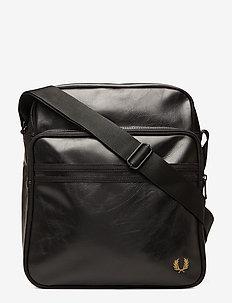 TONAL PU FLIGHT BAG - BLACK