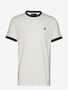 Ringer T-Shirt - SNOW WHITE