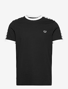 TAPED RINGER T-SHIRT - basic t-shirts - black