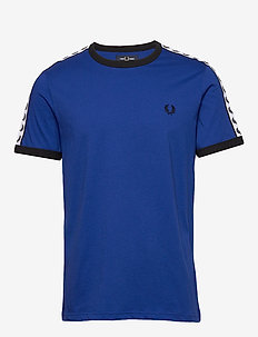 TAPED RINGER T-SHIRT - COBALT