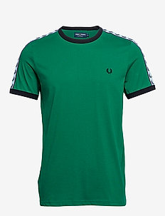 TAPED RINGER T-SHIRT - PITCH GREEN