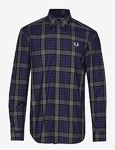 Bold Tartan Shirt - CARBON BLUE