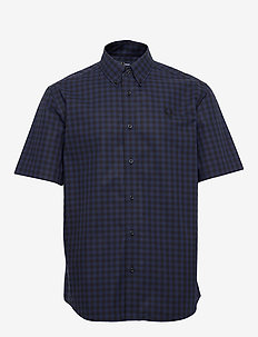 2 COL. GINGHAM SHIRT - CARBON BLUE