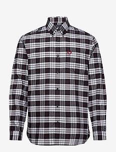 TARTAN OXFORD SHIRT - rutede skjorter - white