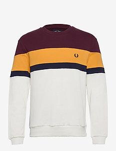 COL.BLOCK SWEATSHIRT - basic sweatshirts - mahogany