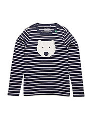 Bear stripe T - NAVY/CREAM