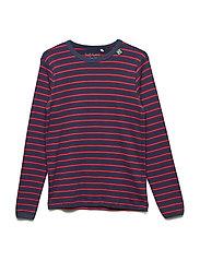 Stripe l/sl T - NAVY/RED