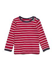 Stripe l/sl T baby - RED/CREAM