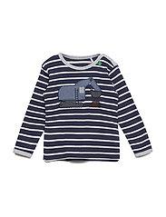 Work stripe T baby - NAVY