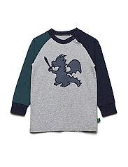 Dragon raglan T baby - PALE GREYMARL