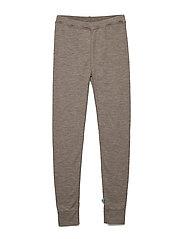 Wool leggings - WALNUT
